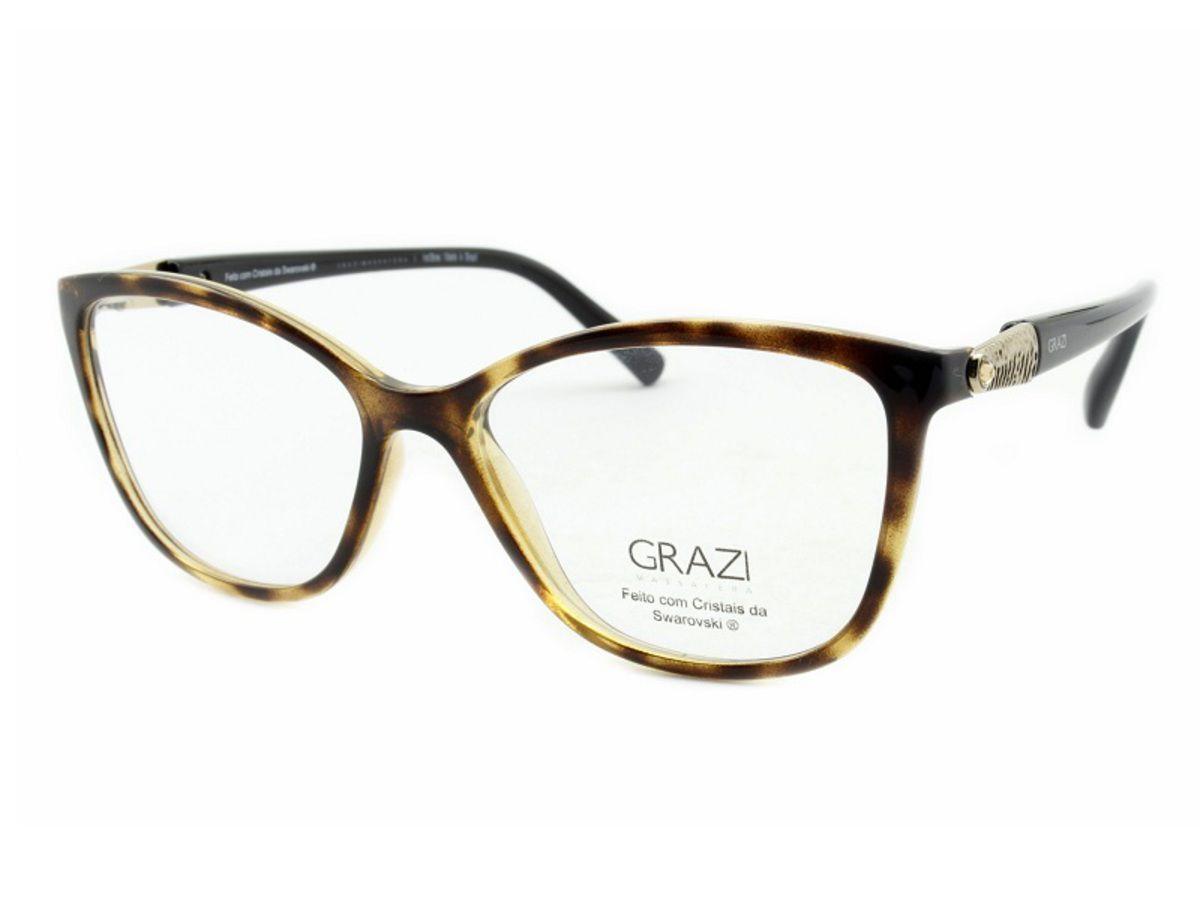 64987ed93 Armação Óculos De Grau Feminino Grazi Massafera GZ3022B E105 - Omega ...
