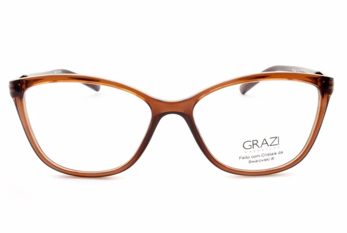 b96ad6a8da6cf Armação Óculos De Grau Feminino Grazi Massafera GZ3022B F106 - Omega ...
