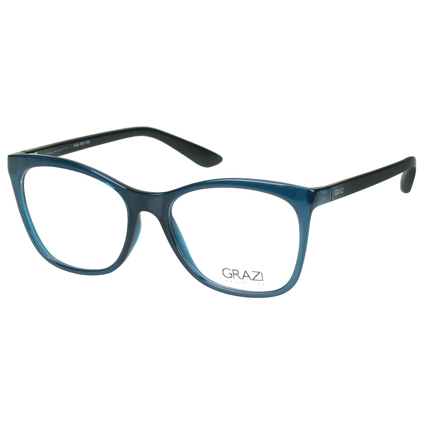 669b00f5a Armação óculos de grau feminino Grazi Massafera GZ3025 F337 - Omega ...