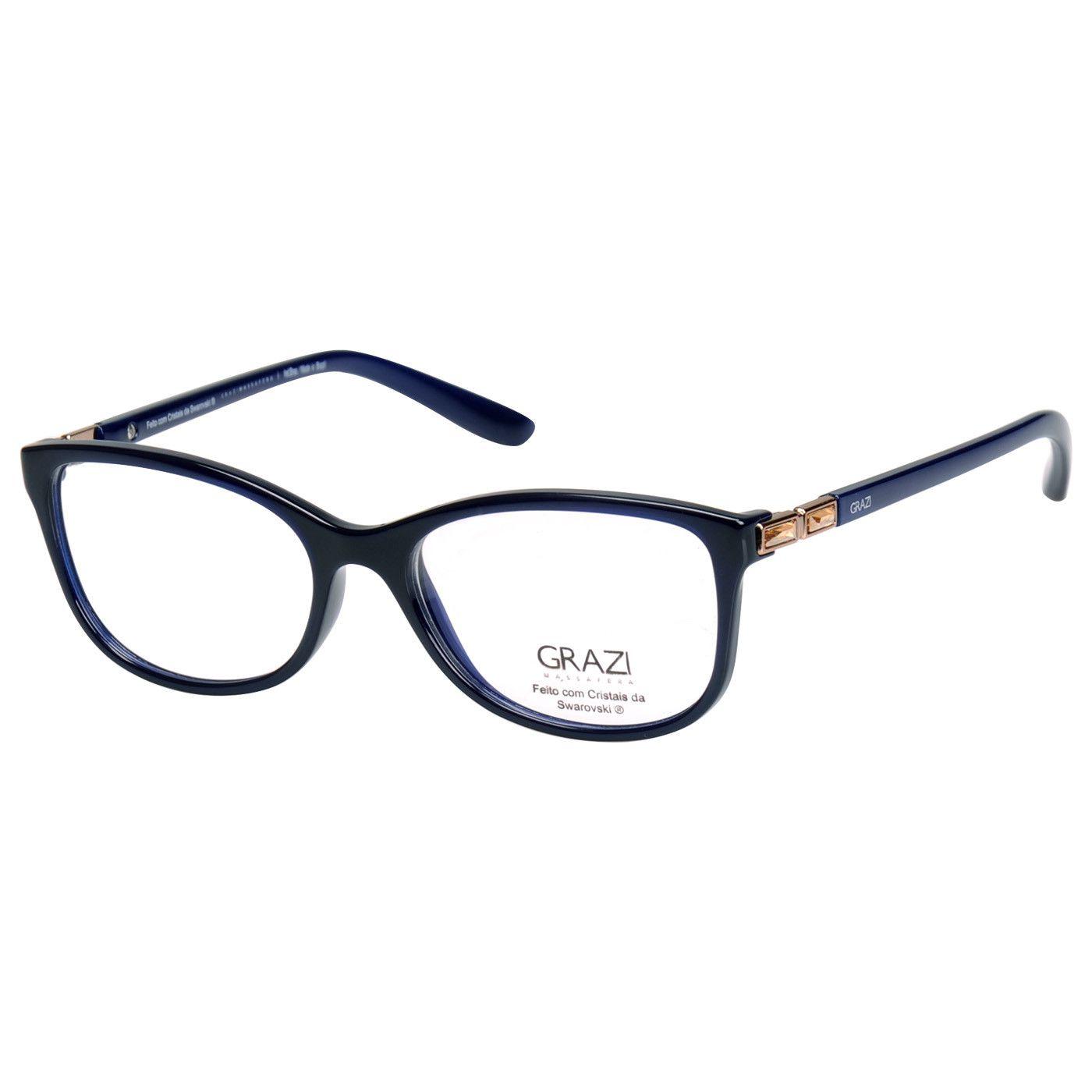 4aac3ec00 Armação Óculos De Grau Feminino Grazi Massafera GZ3032B E803 - Omega ...