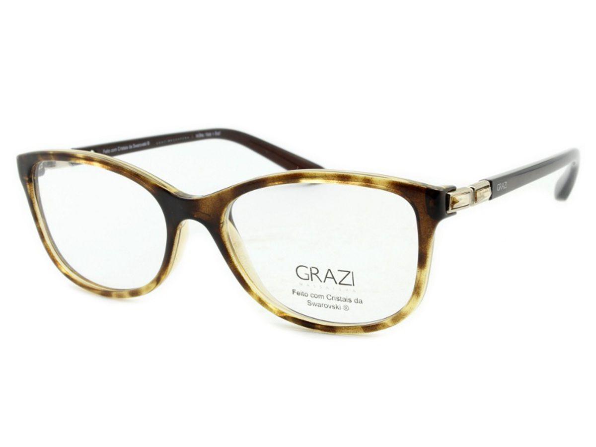 2a542a9ec Armação Óculos De Grau Feminino Grazi Massafera GZ3032B E804 - Omega ...