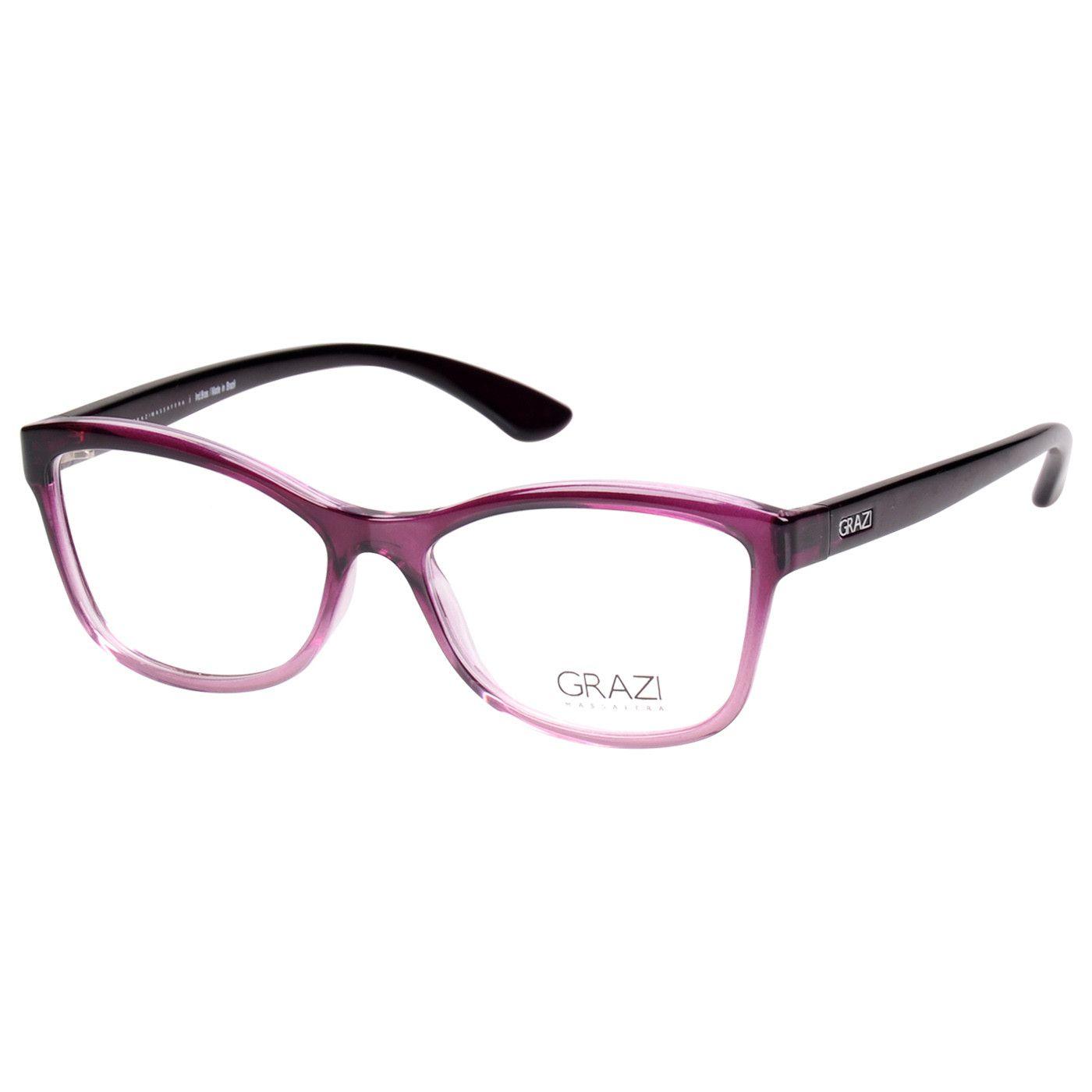 6ab76fa078dc1 Armação Óculos De Grau Feminino Grazi Massafera GZ3036 F060 - Omega ...