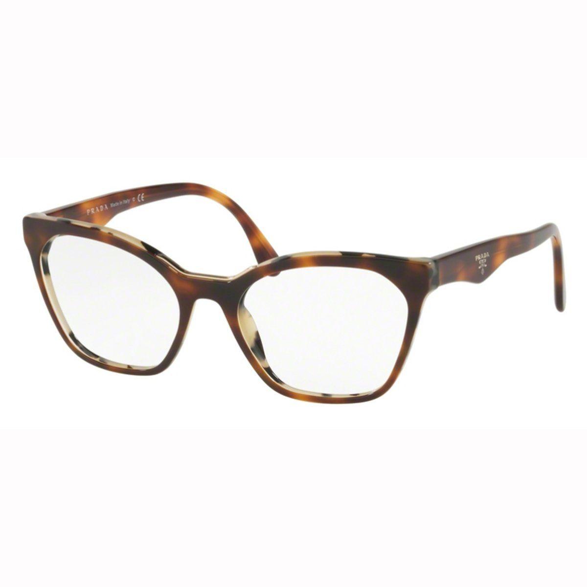 0bfe4560b6837 Armação Óculos de Grau Feminino Prada VPR09U TH8-101 - Omega Ótica e ...