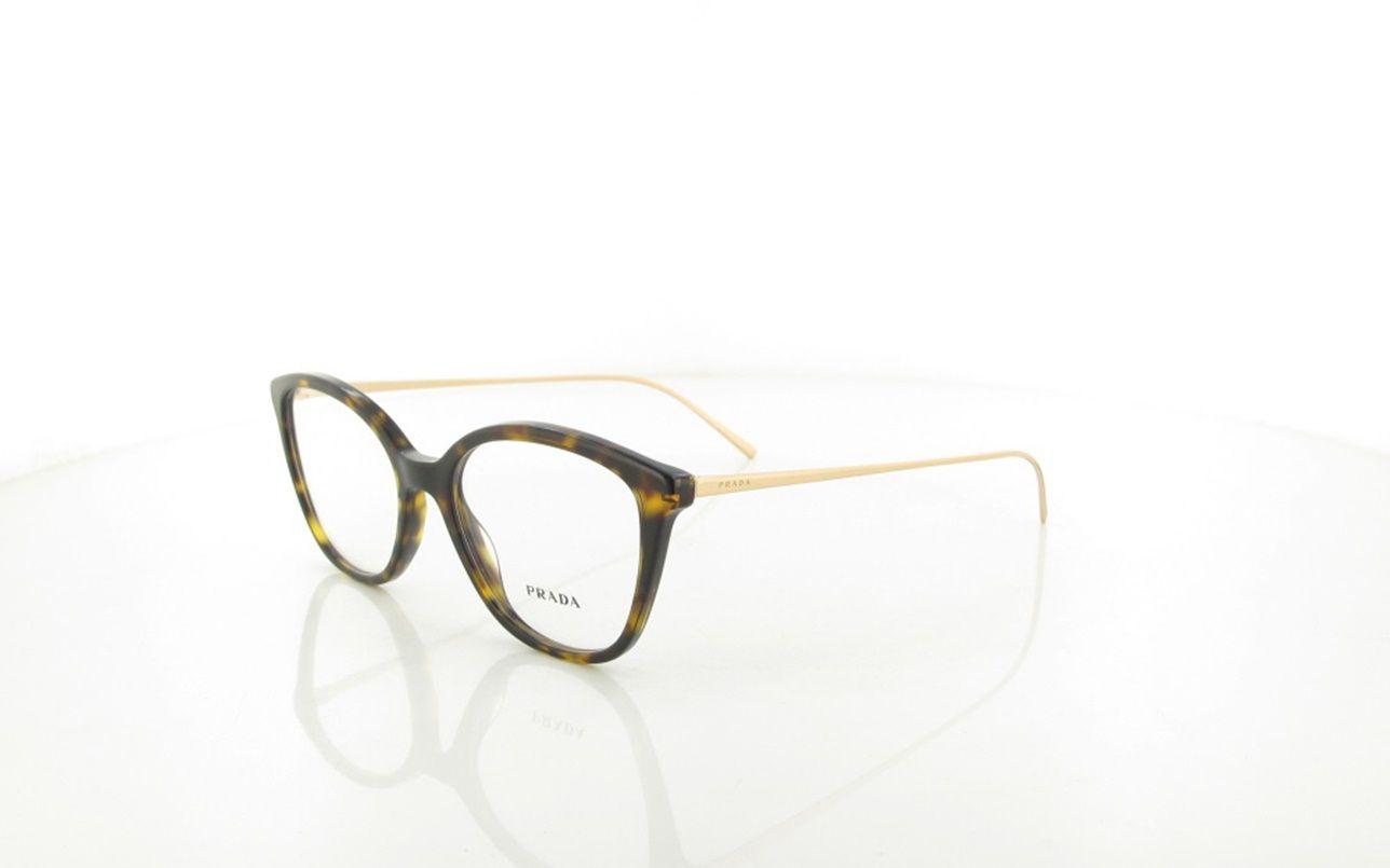 b39c30a9a Armação Óculos de Grau Feminino Prada VPR11V 2AU-101 - Omega Ótica e  Relojoaria