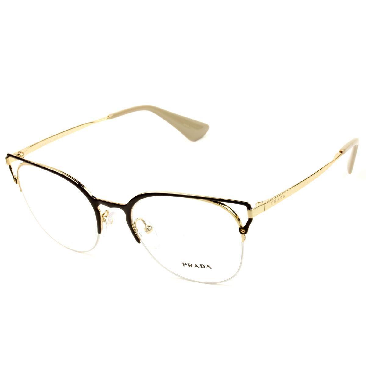 Armação Óculos de Grau Feminino Prada VPR64U 98R-101 - Omega Ótica e ... 84002338bf