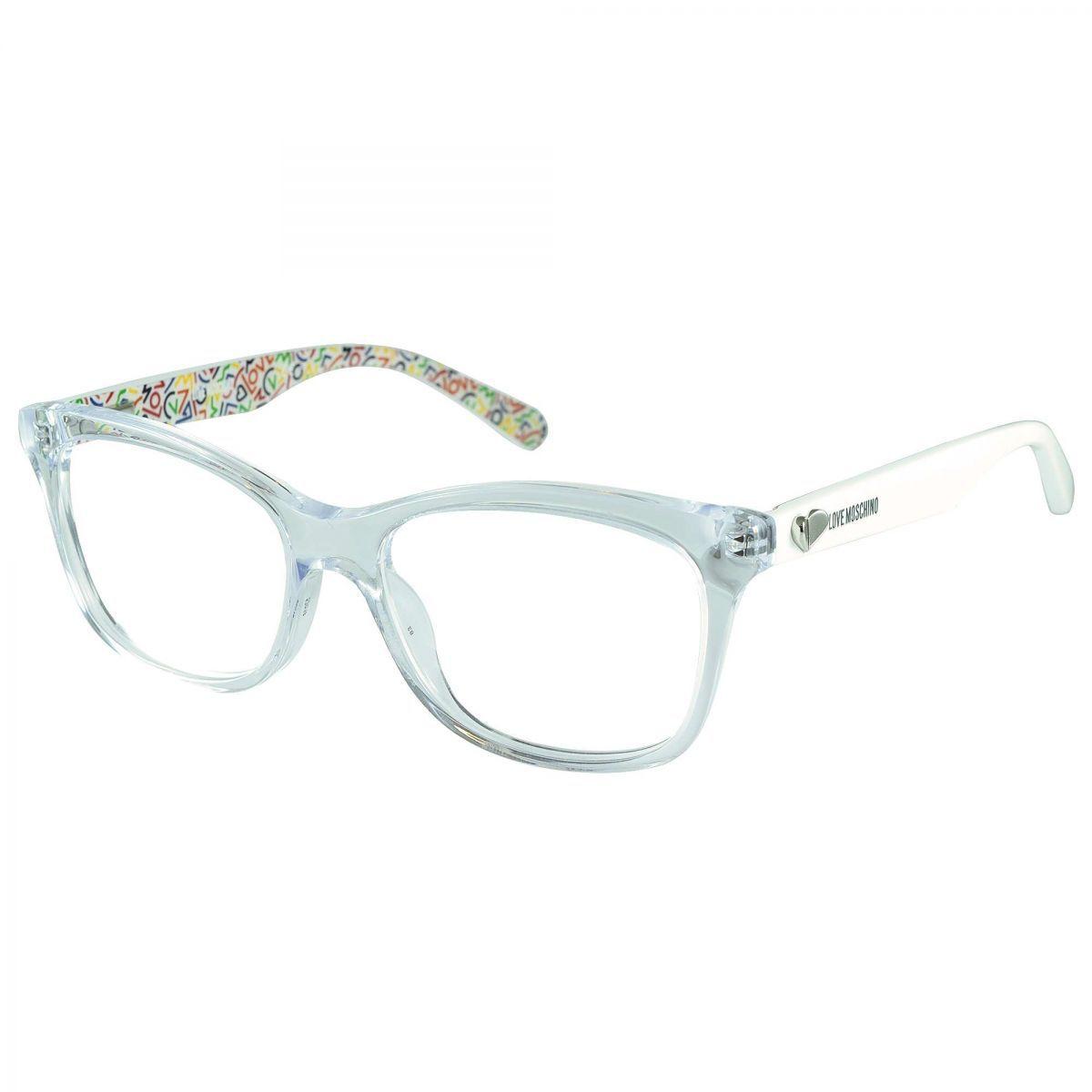 60464432307d5 Armação Óculos De Grau Love Moschino Feminino Mol509 900 - Omega ...