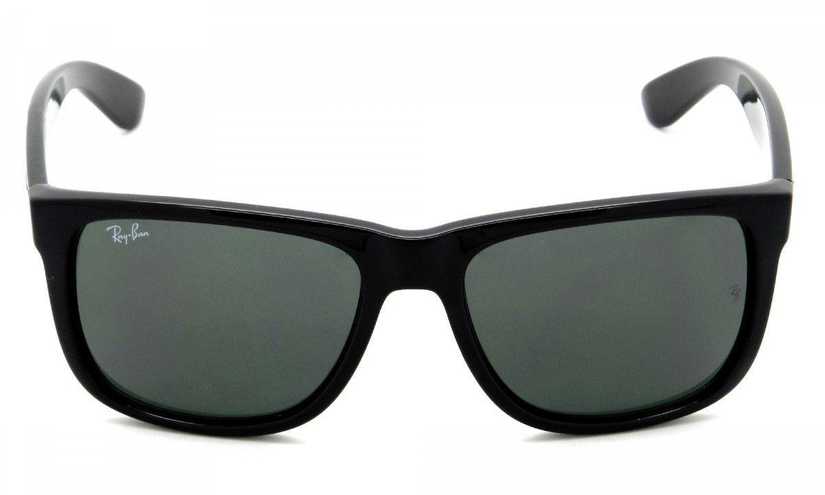 Óculos De Sol Ray-ban Justin RB4165l 601/71 Preto Brilhoso