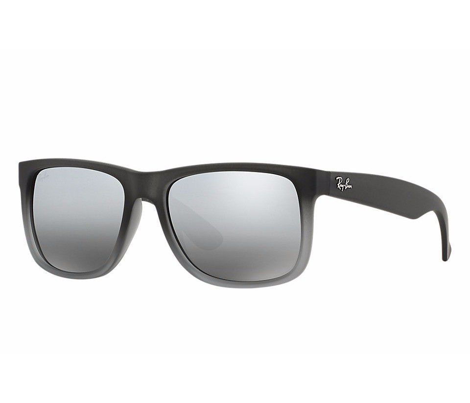 Óculos De Sol Ray-ban Justin Rb4165l 852/88 57 Cinza