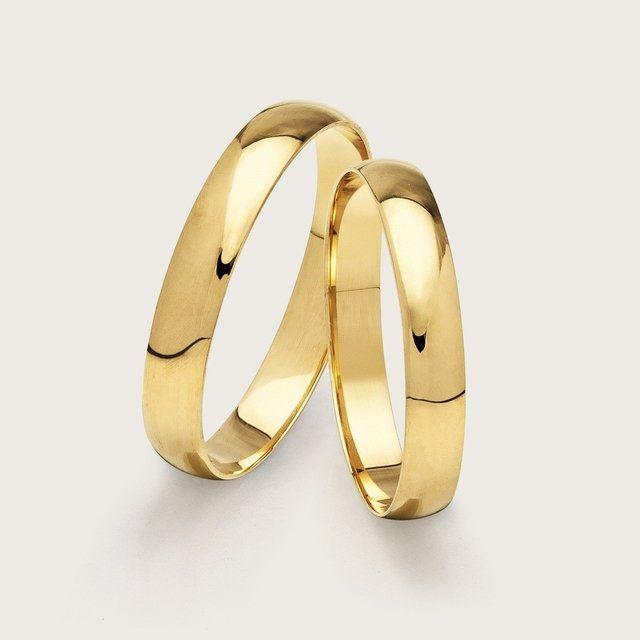 Par de Alianças Para Noivado ou Casamento em Ouro 18K 3mm