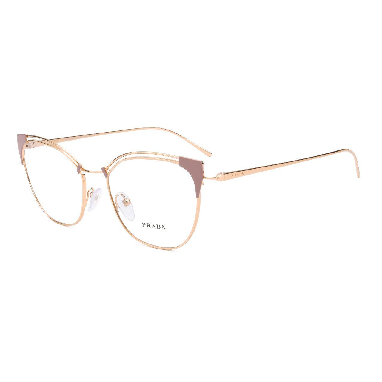 580d959b8 Armação Óculos de Grau Feminino Prada VPR62U YEP-101 - Omega Ótica e ...