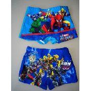 Sunga Infantil Personagens Marvel ou Transformers Com Forro