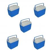 Kit 5 Caixas Térmicas 18 Litros Bel Fix Atacado