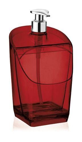 Dispenser Vermelho Translucido De Plástico Uz