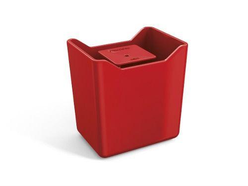 Dispenser Premium Vermelho Solido De Plástico Uz