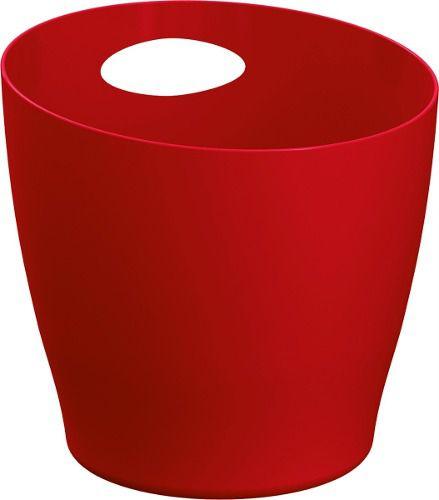 Balde De Gelo 6l Vermelho Solido De Plástico UZ