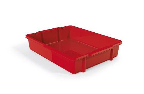Bandeja Empilhável Vermelho Solido De Plástico Uz