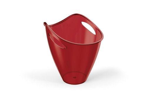 Balde De Gelo Plus 3,3l Vermelho Translucido De Plástico Uz