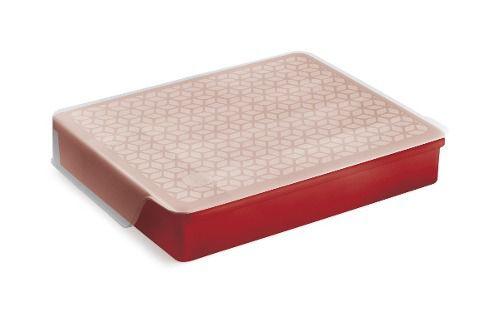 Organizador Multiuso Pp Vermelho Solido De Plastico Uz