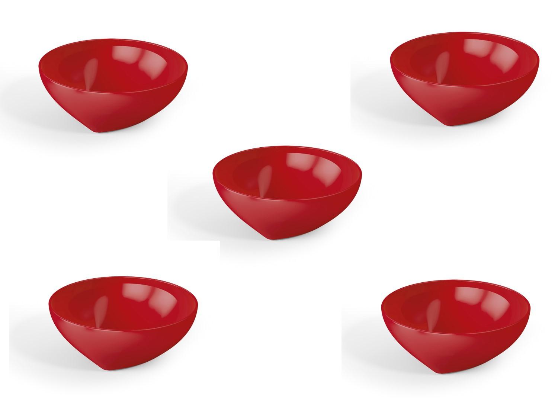 5 Cremeiras Mini Plus 200ml Vermelho Sólido De Plástico Uz
