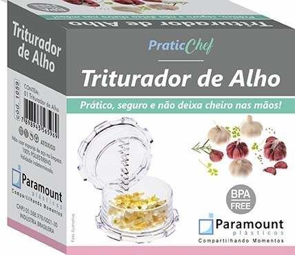 Triturador de Alho Transparente Paramount Pratic Chef