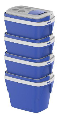 Caixa Térmica Tropical 28 Litros Azul Soprano