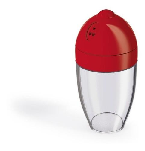 Porta Condimentos 300ml Vermelho Sólido De Plástico Uz