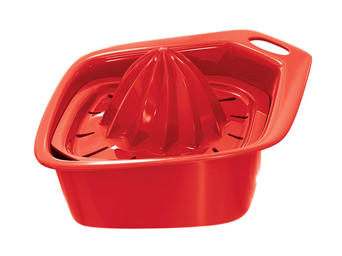 Espremedor De Frutas Vermelho Solido De Plástico Uz