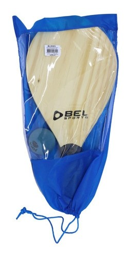Kit Frescobol Completo Com 2 Raquetes Bola E Bolsa Bel Fix