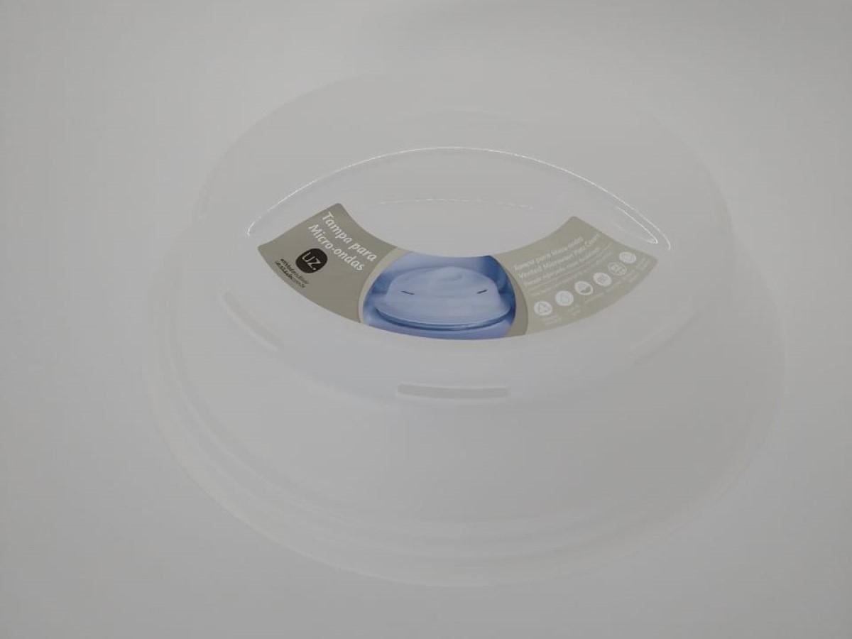 Tampa Micro-ondas Transparente Solido De Plástico Uz