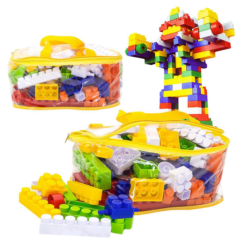 Brinquedo Bebê Peças Montar Blocos Montar Grande 120 Peças