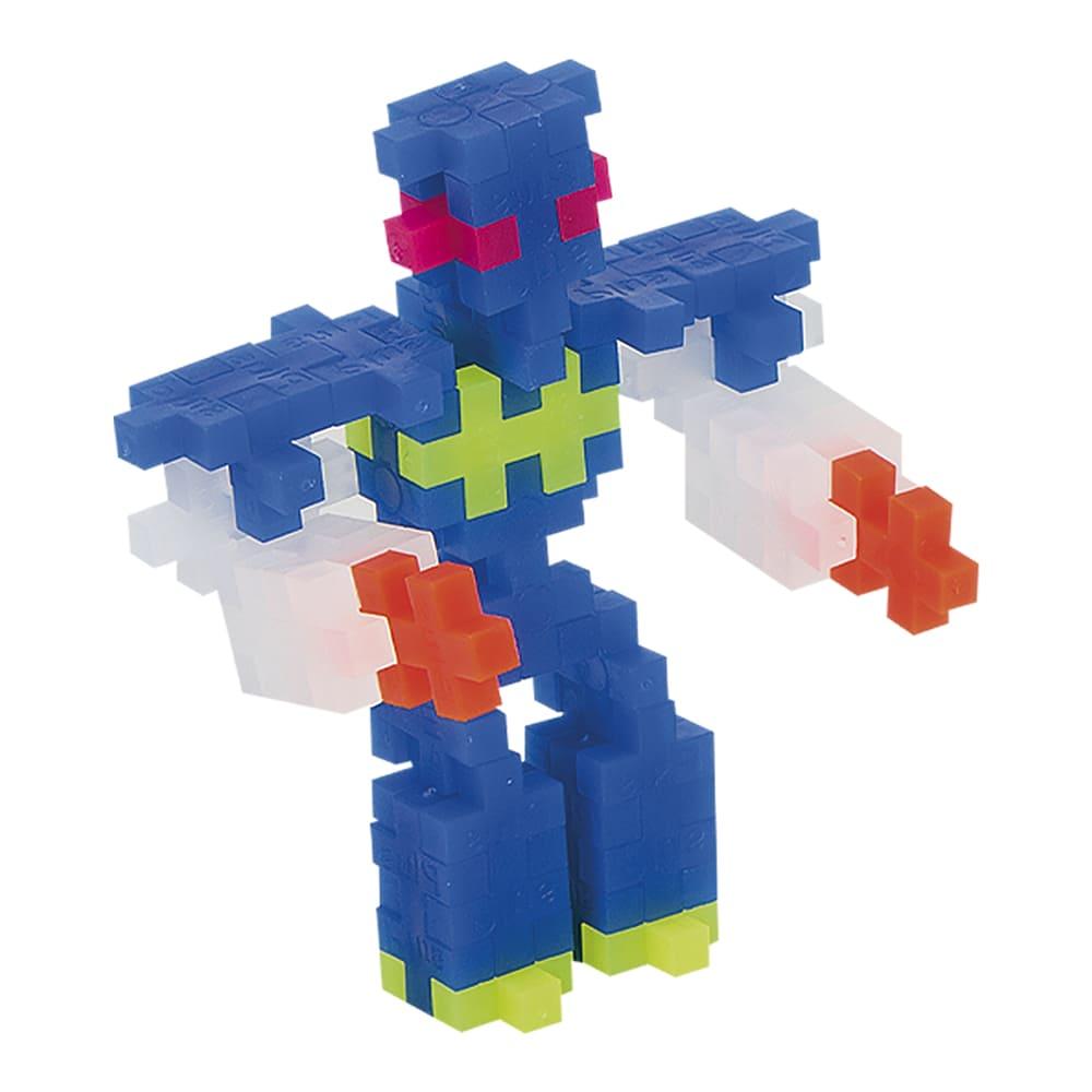 Pecinhas de Montar Robôs 170 Peças Plus Plus Mini Neon