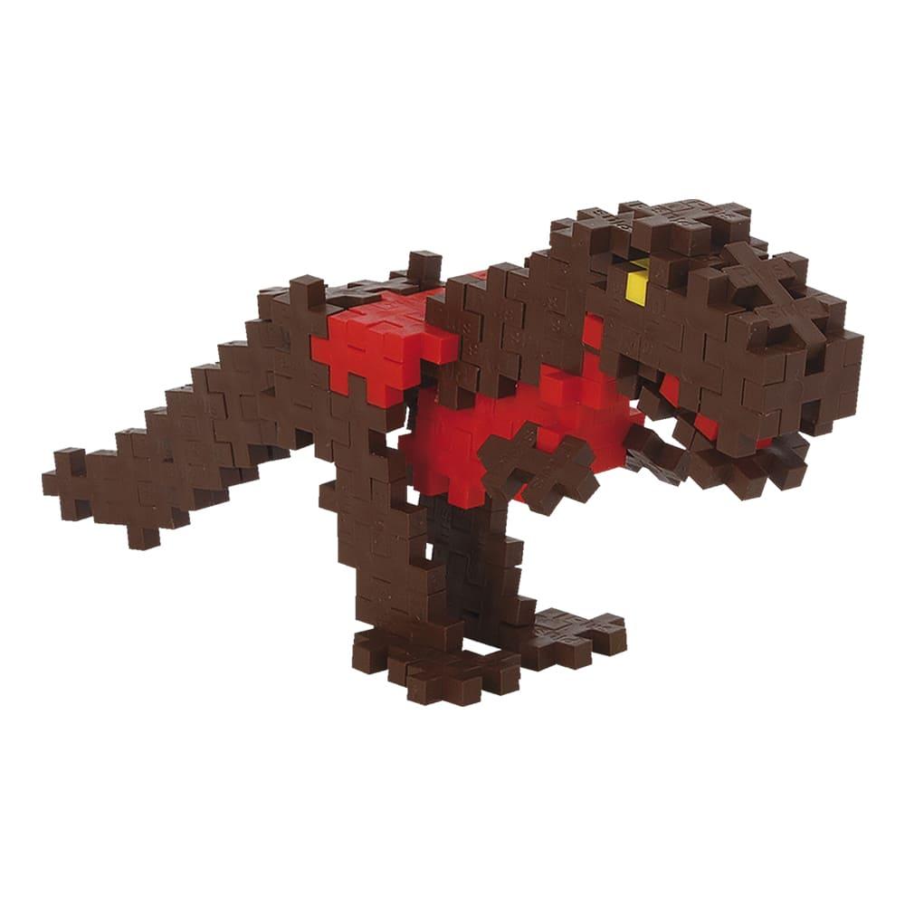 Pecinhas de Montar Dinossauro Rex 100 Peças Plus Plus Mini