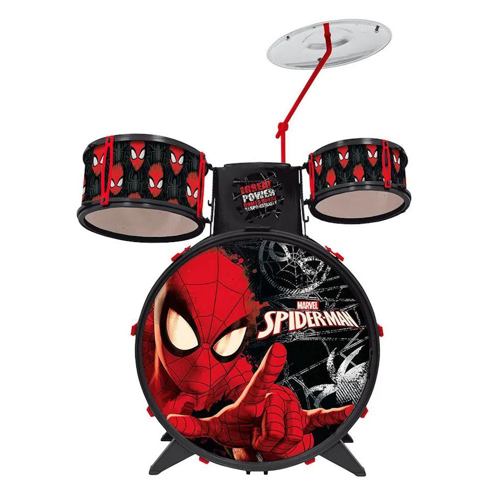 Brinquedo do Homem Aranha Bateria Infantil Menino 4 a 6 Anos