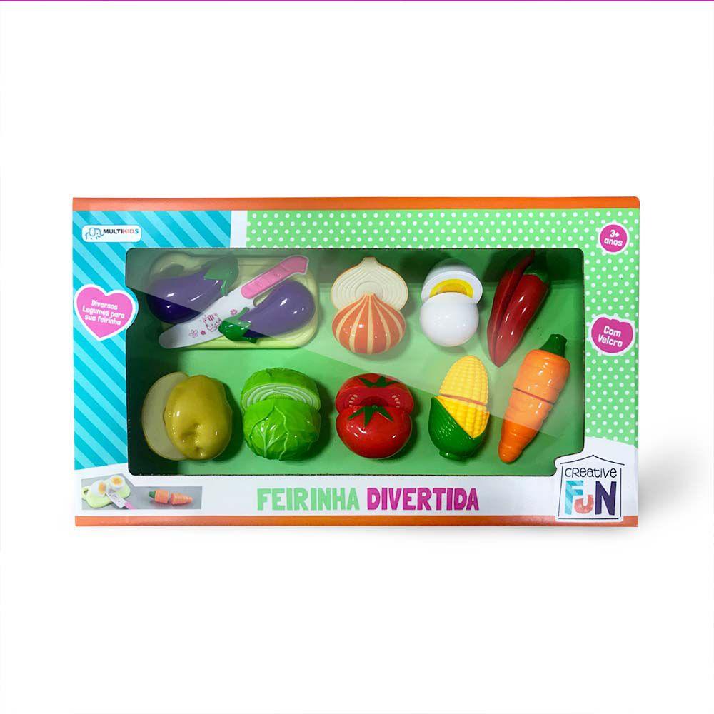 Legumes de Brinquedo Com Velcro Para Cortar Multikids BR1109