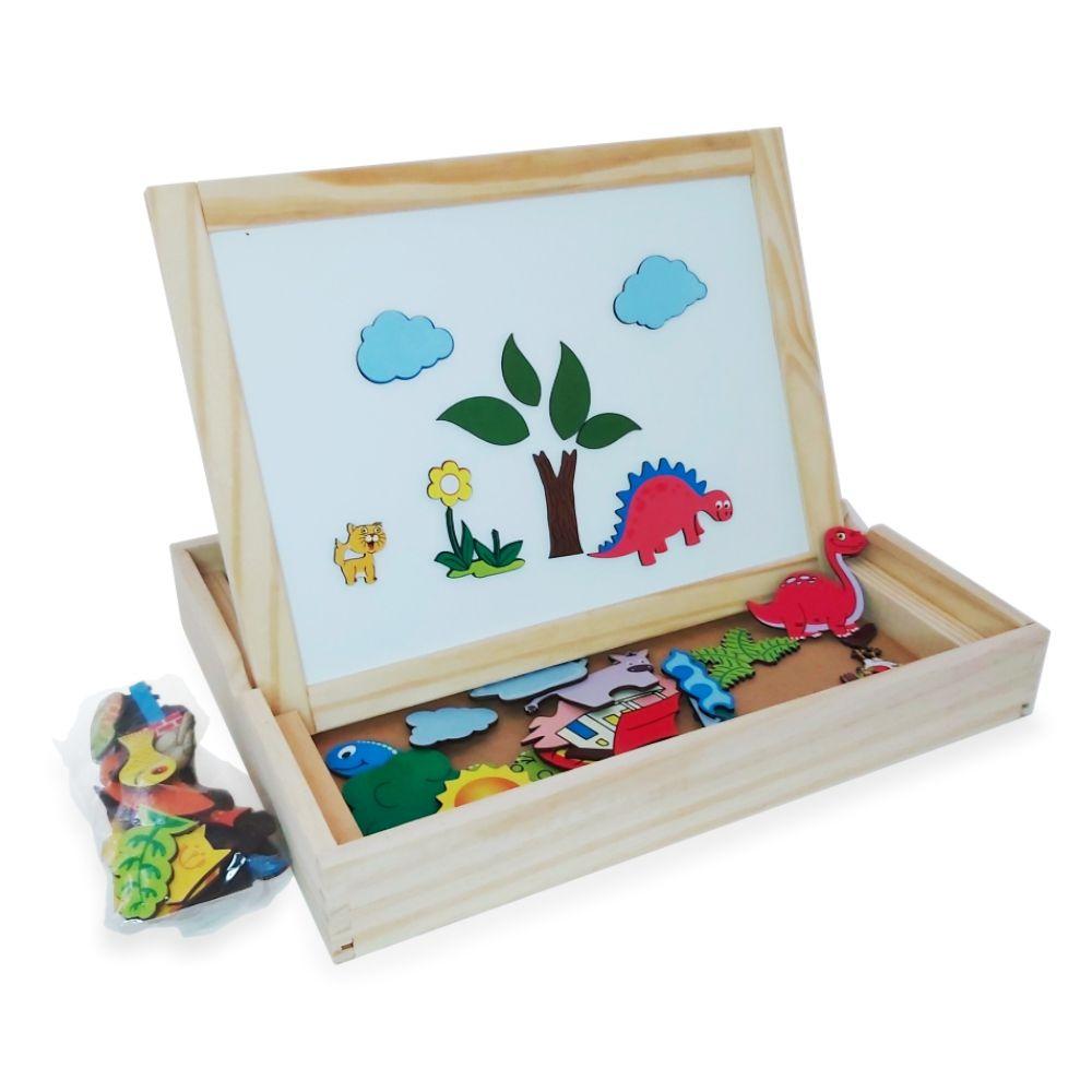 Lousinha Infantil de Giz Mini Pequena de Mesa Magnética 2 em 1