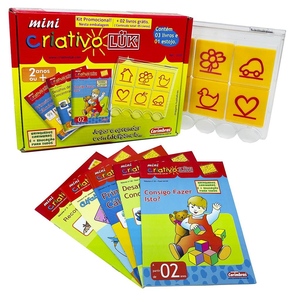 Mini Criativo Luk Kit Jogo Educativo 05 Livros e 01 Estojo