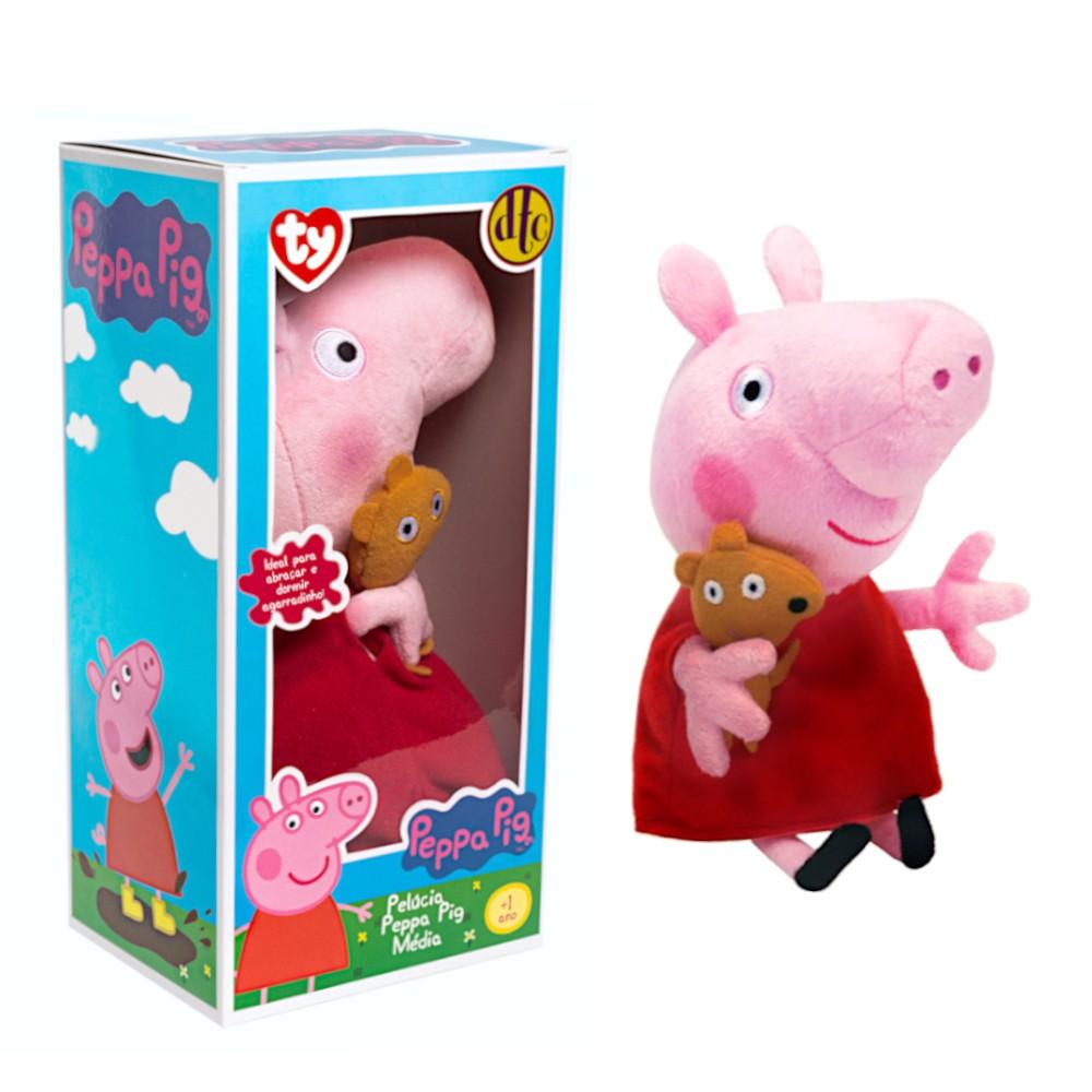 Brinquedo Peppa Pig Bicho de Pelúcia Ty Presente Para Bebê