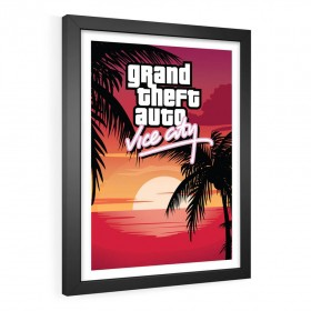 QUADRO DECORATIVO GTA VICE CITY