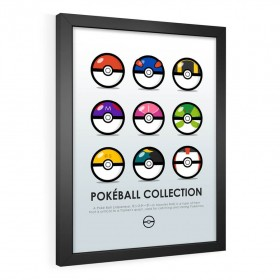 QUADRO DECORATIVO POKÉBALL COLLECTION