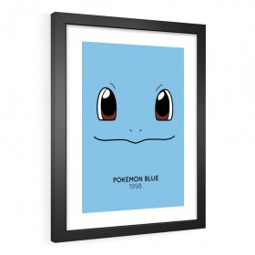 QUADRO DECORATIVO POKÉMON BLUE