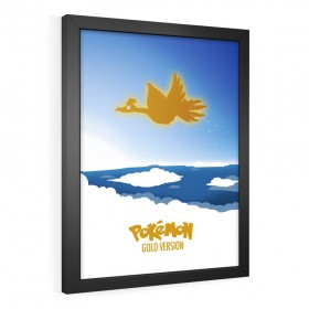 QUADRO DECORATIVO POKÉMON GOLD