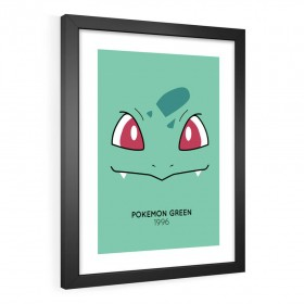 QUADRO DECORATIVO POKÉMON GREEN