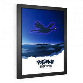 QUADRO DECORATIVO POKÉMON SILVER