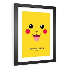 QUADRO DECORATIVO POKÉMON YELLOW