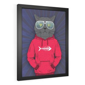 QUADRO DECORATIVO PÔSTER CAT FACE