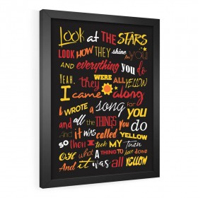 QUADRO DECORATIVO PÔSTER COLDPLAY | YELLOW