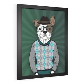 QUADRO DECORATIVO PÔSTER DOG FACE