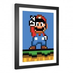 QUADRO DECORATIVO SUPER MARIO WORLD
