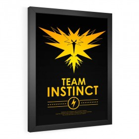 QUADRO DECORATIVO TEAM INSTINCT | POKÉMON
