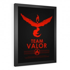 QUADRO DECORATIVO TEAM VALOR| POKÉMON